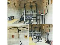 Home multi gym bench free weights