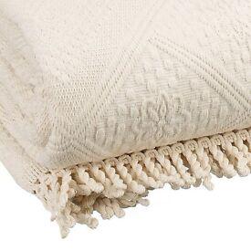 Ecru Jacquard bedspread John Lewis 100% Cotton