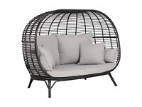 John Lewis Cabana 2 Seater Garden Sofa Pod, Black