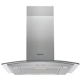 NEW - Hotpoint PHGC6.5FABX 60cm Chimney Cooker Hood - Stainless Steel - BARGAIN PRICE @ £90