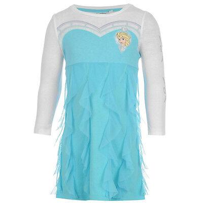 DISNEY robe bleu et blanche ELSA La Reine des Neiges taille 2-3 ans - Kostüm La Reine Des Neiges