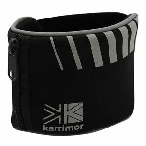 Karrimor Mens Ladies Running Cycling Wrist Band Wallet Safe Storage BLACK SILVER