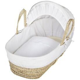 John Lewis Moses Basket, Stand and Fitted Sheets