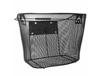 (1608) DUNLOP WIRE BASKET FOR MOST ADULT BIKES; FRONT BICYCLE BASKET