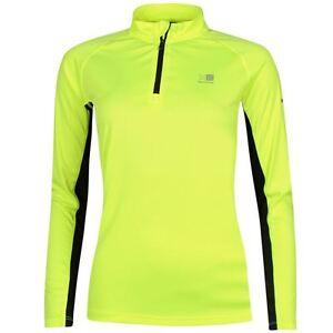 Ladies karrimor hi viz running jersey top 1 4 zip long for Hi viz running shirt