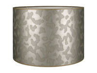 Harlequin Luxe Drum Shade, Pewter Luxury Light Shade RRP £75 John Lewis
