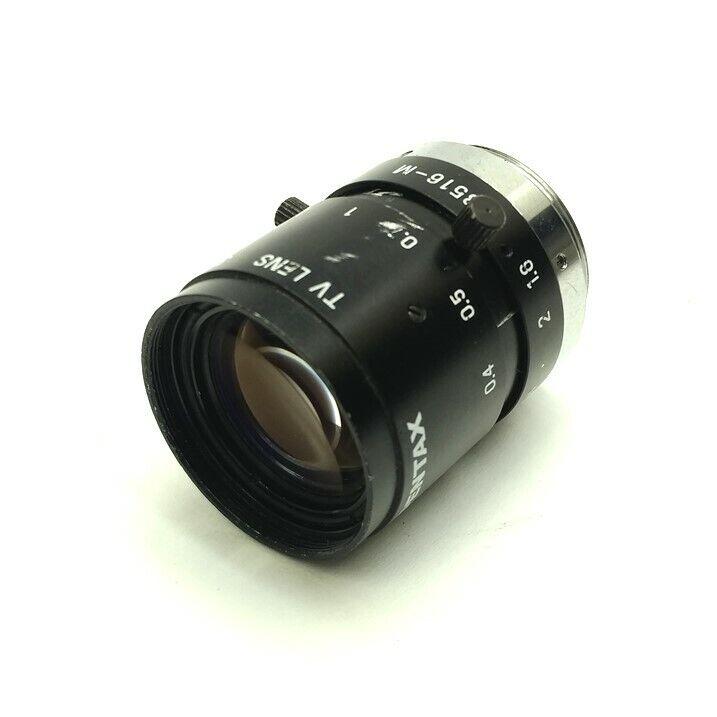 Pentax C3516-M Machine Vision Camera Lens, 35mm Focal Length, 1:1.6, C-Mount