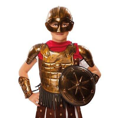 Gladiator Ritter Rüstung Kinder Gladiatorkostüm 7 Teile silber oder bronze