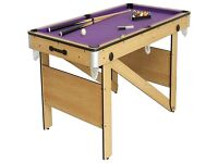 BCE 5Ft Rolling,lay flat pool /snooker table