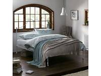 John Lewis Mary Bed Frame, Double, White - New In Box - RRP £150
