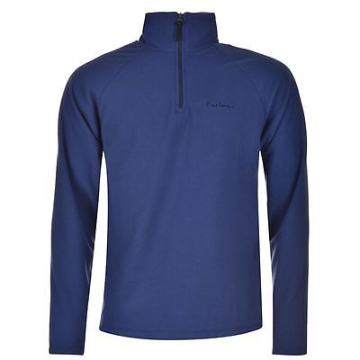PIERRE CARDIN BLUE QUARTER ZIP FLEECE PULLOVER NEW SWEATER JACKE JACKET SHIRT - Quarter-zip Fleece Pullover