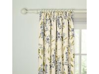 John Lewis Wisteria Lined Pencil Pleat Curtains (blue)