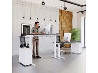 Unite Memory Electric Height Adjustable Desk - White Frame