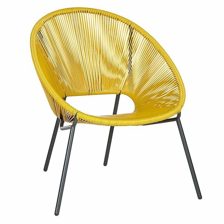 John Lewis Salsa Chair in Yellow.