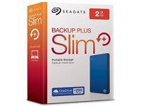Seagate Backup Plus Portable Drive, 2TB, Blue **NEW**
