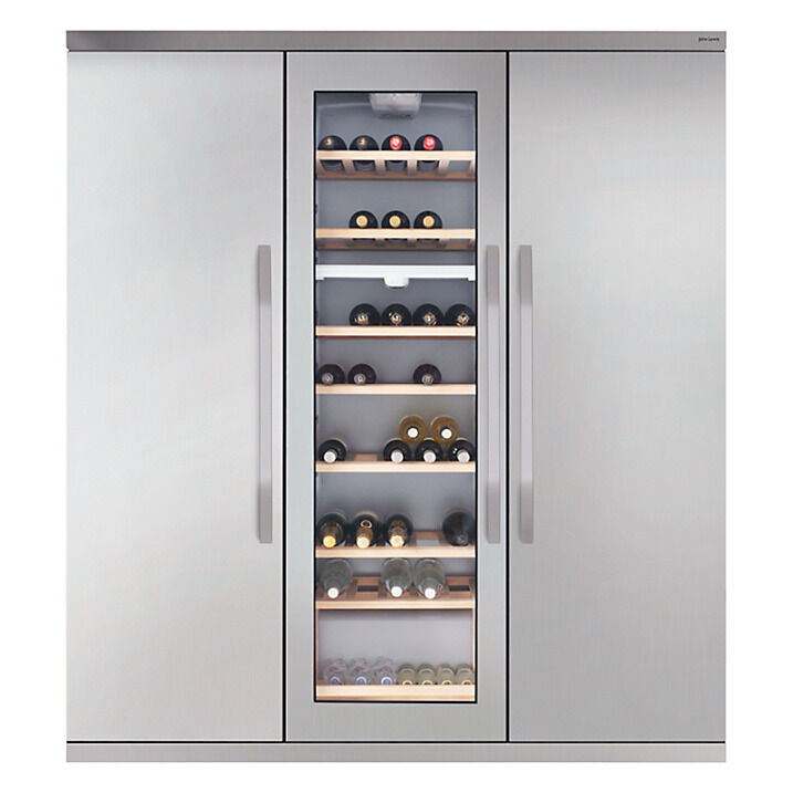 john lewis slim wine cabinet triple fridge freezer stainless steel