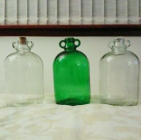 Large Vintage Glass Bottles