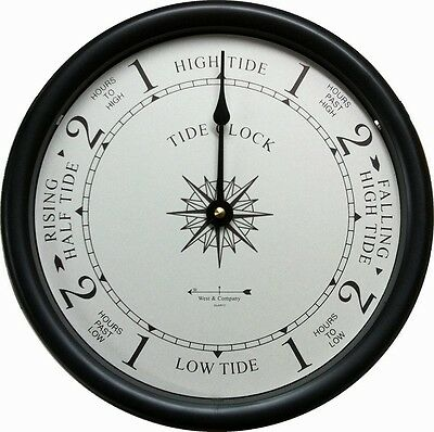 """6/"""" CHERRY TIDE CLOCK BY WEST /& CO."""