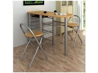 Kitchen Diner Breakfast Bar Table & Chairs Set.