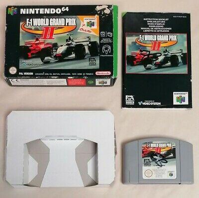 VIDEO GAME - Nintendo N64 F-1 World Grand Prix II Game Complete PAL 1999 3+