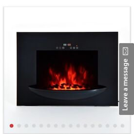 HOMCOM Wall Mount 1800W Electric Fire Place-Black . New in box