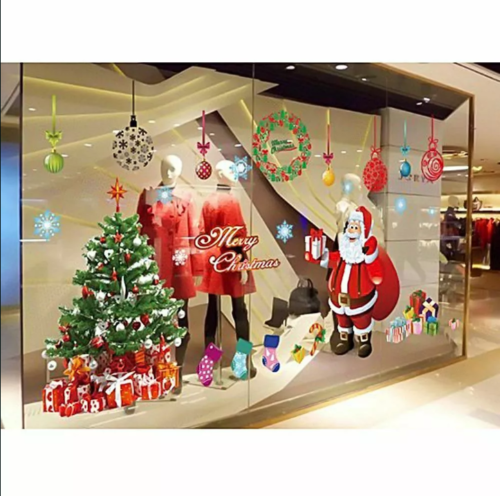 Home Decoration - Merry Christmas Tree Wall Window Oversized Stickers Decals XMAS Home Shop Decor