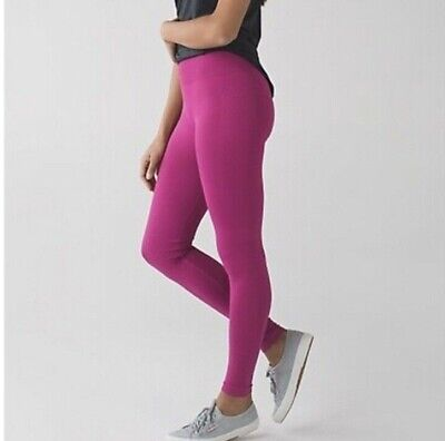 NWT LULULEMON Ultra Violet Pink Purple ZONE IN TIGHT Seamless Compression Sz 4