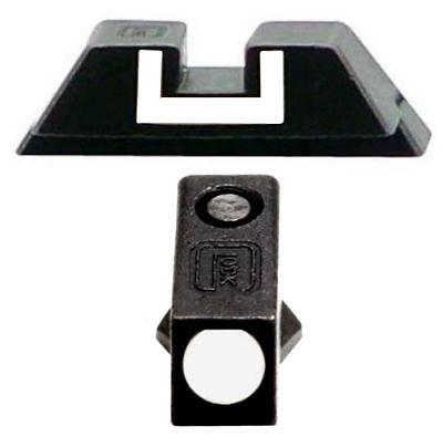 GLOCK Steel Rear Sight 6.5 & Front Steel Sight OEM Factory fit 17 19 22 23 26 -