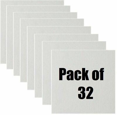 32 Count Usg Interiors 4290 12 X 12 White Smooth Wood Fiber Ceiling Tile
