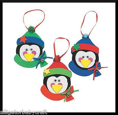 Penguin Craft Kit - 1 Penguin Christmas Ornament Craft Kit Kids ABCraft Winter Holiday Boys Girls