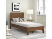 Single Wooden solid bed brand new boxed