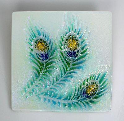 Small Peacock Texture Tile - Glass Fusing Mold