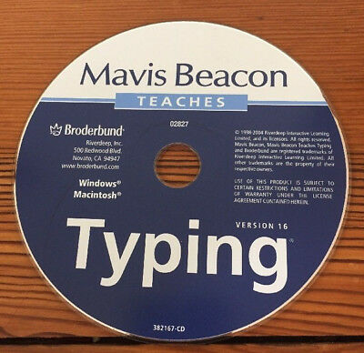 2004 Broderbund Mavis Beacon Teaches Typing Ver16 Keyboard Skills Mac Windows CD