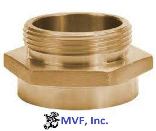 """1-1/2"""" Female NPT X 1-1/2"""" Male NST Hex Adapter Brass Hydrant Hose <2415525"""