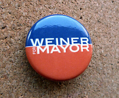 Rare Anthony Weiner Campaign Button New York / Badge / Pinback 2013 Mayor Race