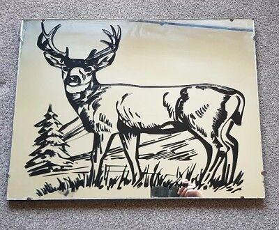 Antique Mirror original chain believe oak framed vinyl stag graphic (removable)