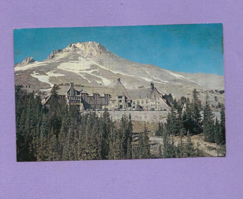 Oregon OR Mt Hood Timberline Lodge Postcard 1962 Vintage Card View Chrome