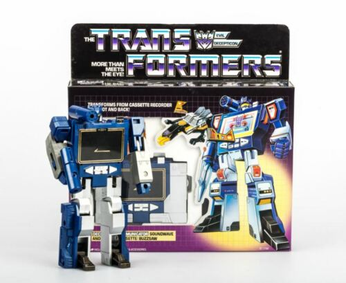 Transformers G1 Soundwave reissue brand new with buzzsaw action figure MISB Gift