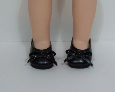 BLACK Ballet Flats Doll Shoes For 14