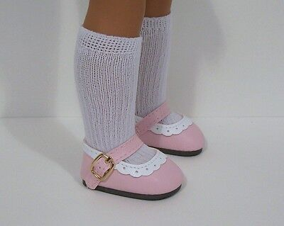 Pink Doll Shoes - 2-Tone LT PINK Doll Shoes For 14