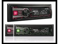 Alpine CDE-190R Car CD Radio /USB/Aux Stereo - Brand New