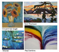 LEARN TO PAINT ~ FOUR WEEKS, FOUR MASTERPIECES!