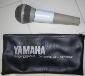 Yamaha dynamic microphone and cable
