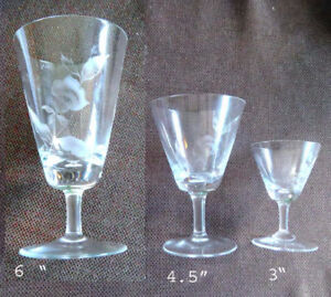 Rosenthal crystal stemware, 48 pieces, Classic Rose  design
