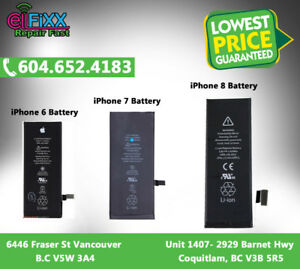 iPhone 6, 7, 8 Batteries for Sale at very lowest Price in town