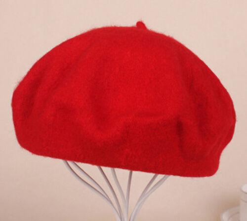 Women Sweet 100 Wool Warm Winter Beret French Artist Beanie Hat Ski Cap Hat