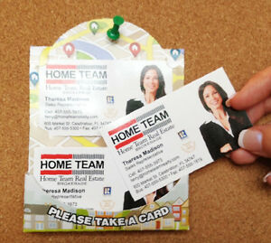 Real Estate Business Card Holders for bulletin boards