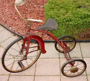 Antique 1950s childs Sunshine tricycle made in Waterloo Ont London Ontario image 2