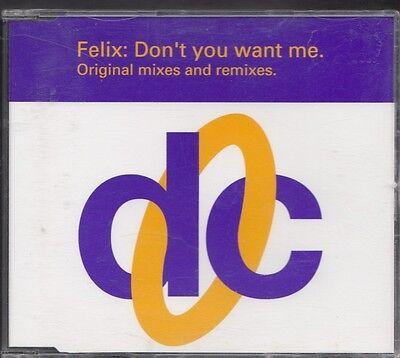 FELIX Don't You Want Me ORIGINAL MIXES AND REMIXES CD MAXI DECONSTRUCTION