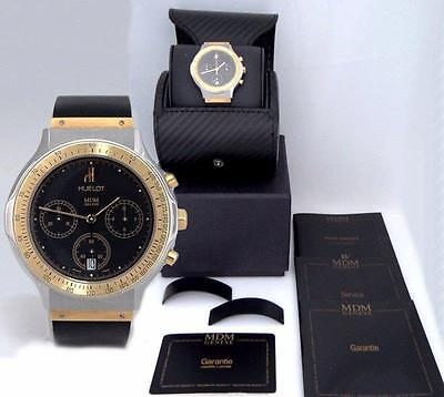 HUBLOT MDM DEPOSE 18K YELLOW GOLD STAINLESS STEEL CHRONOGRAPH WATCH 1621.2